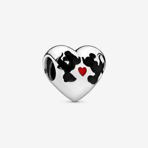 Pandora  Minnie Mouse & Mickey Mouse Kiss Charm